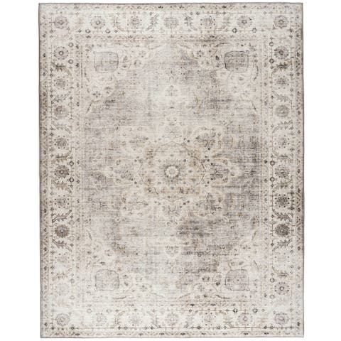 ReaLife Machine Washable -Vintage Bohemian Medallion Rug