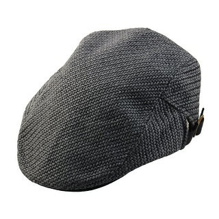 Men Women Vintage Newsboy Linen Ivy Cap Driving Golf Flat Beret Hat Dark Gray
