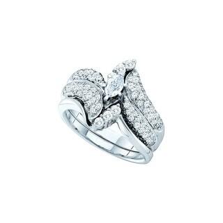 1 Ctw Diamond Ladies Bridalset White-Gold 14K