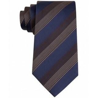 Kenneth Cole Reaction NEW Brown Elegant Striped Men's Silk Necktie