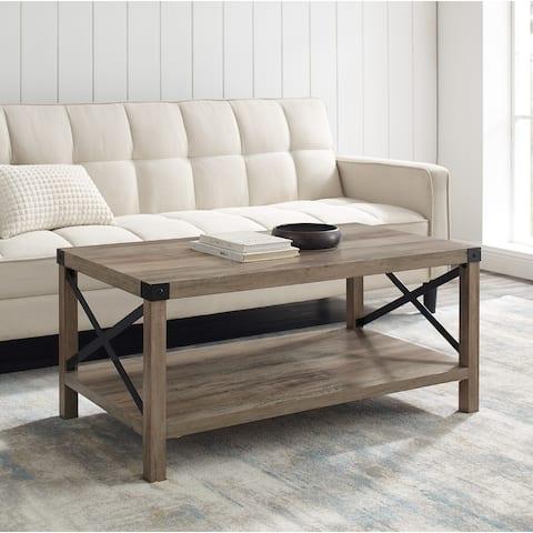 The Gray Barn Kujawa Metal X Coffee Table