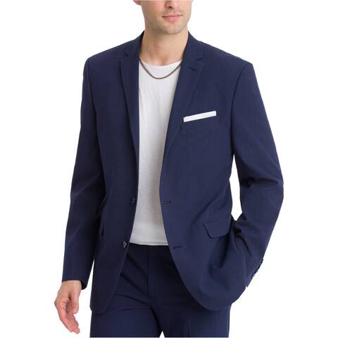 Bar Iii Mens Active Stretch Two Button Blazer Jacket