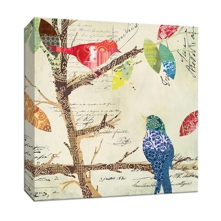 "PTM Images 9-146778  PTM Canvas Collection 12"" x 12"" - ""Love Bird IV"" Giclee Birds Art Print on Canvas"