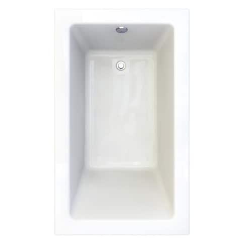 "American Standard 2934.002 Studio 60"" Acrylic Soaking Bathtub with Reversible Drain - Lifetime Warranty"