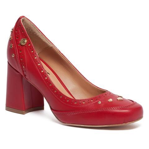 Love Moschino Red Chunky Mid Heel Pump