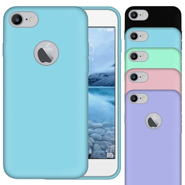 Ultra-Thin Matte Silicone Rubber Case Soft Jelly TPU Cover For iPhone 7