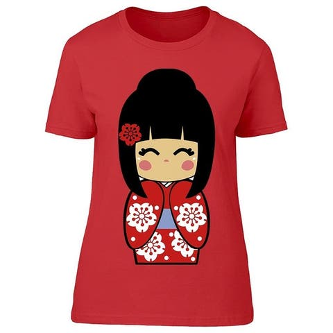 Japanese Doll Graphic Tee Women's -Image by Shutterstock
