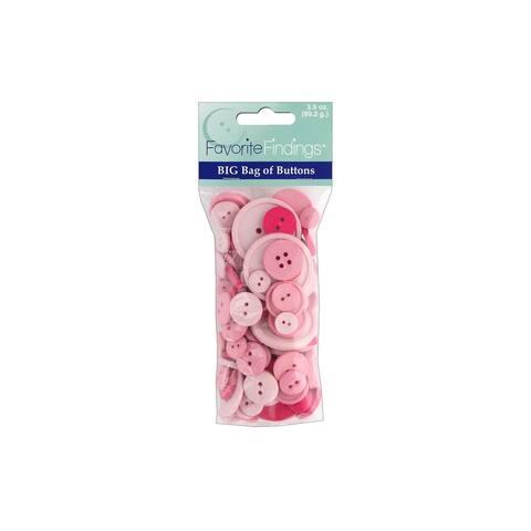 Blumenthal Big Bag Of Buttons 3.5oz Pinks - Pink