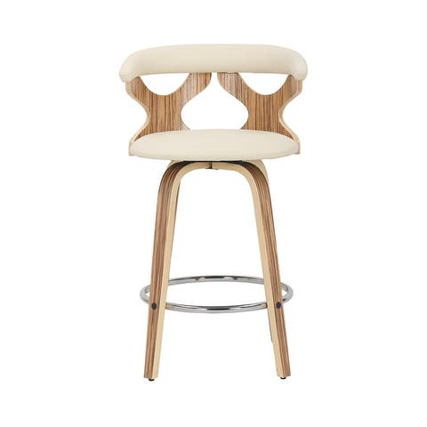 Carson Carrington Viby Mid-century Modern Counter Stools (Set of 2) - N/A
