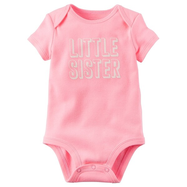 bdf073594 Shop Carter's Baby Girls' Little Sister Bodysuit 18 Months - Free Shipping  On Orders Over $45 - Overstock.com - 18304707