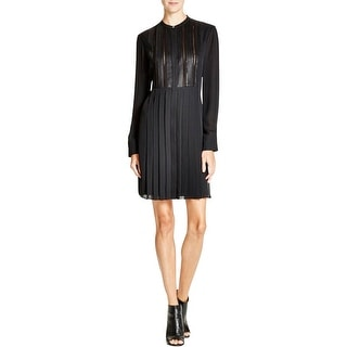 Vince Womens Casual Dress Silk Pleated