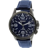 Seiko Men's SRPC31K Grey Leather Automatic Fashion Watch