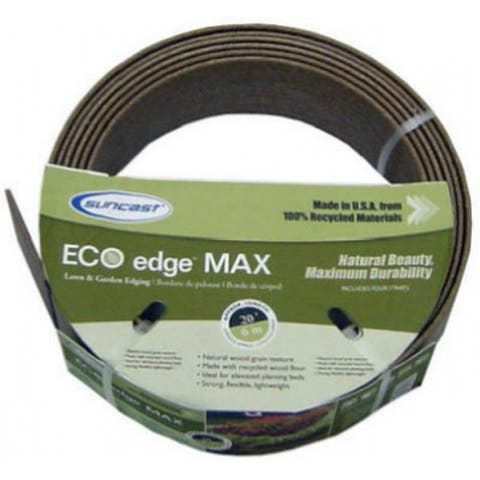 SuncastA CE20 Eco Edge Decorative Lawn Edging, Natural Wood Grain Texture
