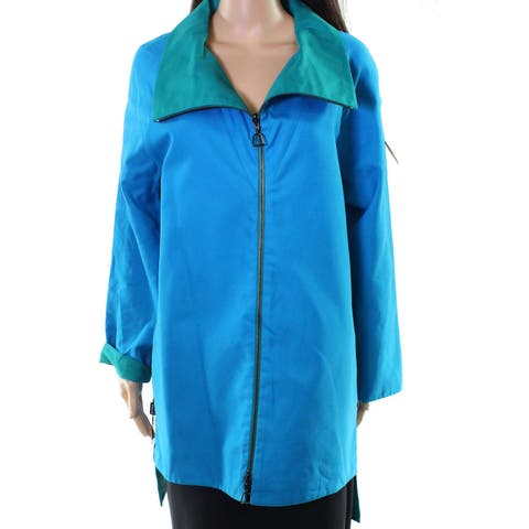 Akris Women's High Low Colorblock Collared Jacket