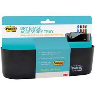 W/4 Command Strips - Post-It Dry Erase Hanging Accessory Tray