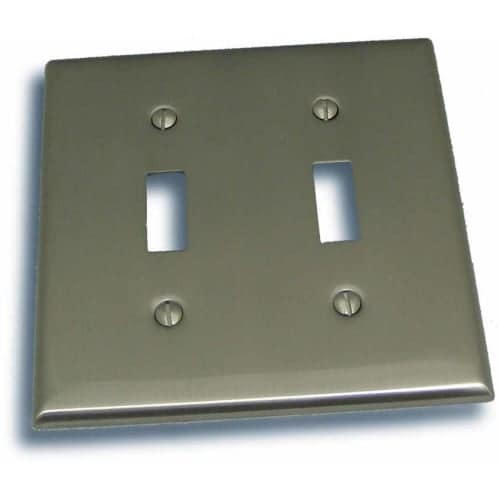 """Residential Essentials 10822 4.5"""" X 4.5"""" Double Toggle Switch Plate Featuring a Rustic / Country Theme"""