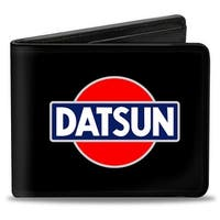 Classic Datsun Logo Black Red Blue White Bi Fold Wallet - One Size Fits most