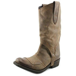 Independent Boot Company Sullivan Men Round Toe Leather Brown Western Boot