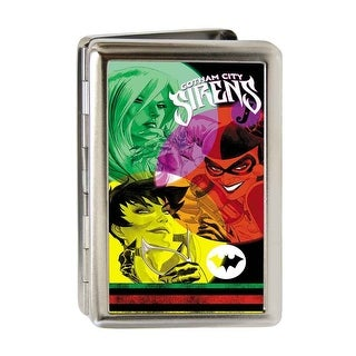 Gotham City Sirens Issue #14 Cover Fcg Black Multi Color Business Card Business Card Holder
