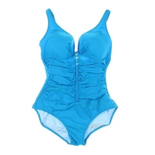 Profile by Gottex Womens Stretch Ruched One-Piece Swimsuit - 14P