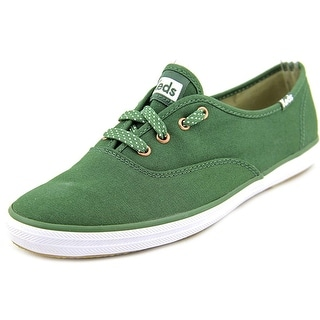 Keds CH OX Women Round Toe Canvas Green Sneakers