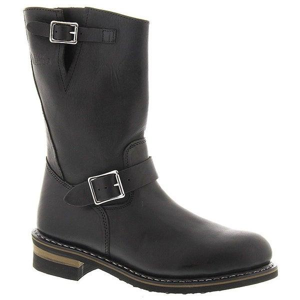 """Work America Mens 11"""" Steel Toe Wellington Leather Steel toe Pull On Safety S... - 10.5"""