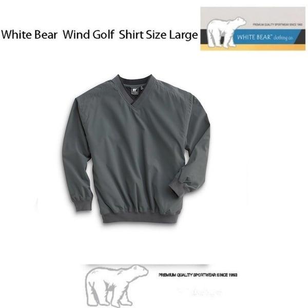 White Bear Golf Wind Shirt (Large), Charcoal