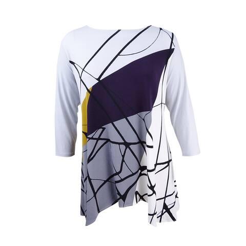 Alfani Women's Printed Swing Top (XXL, Purple Multi) - Purple Multi - XXL