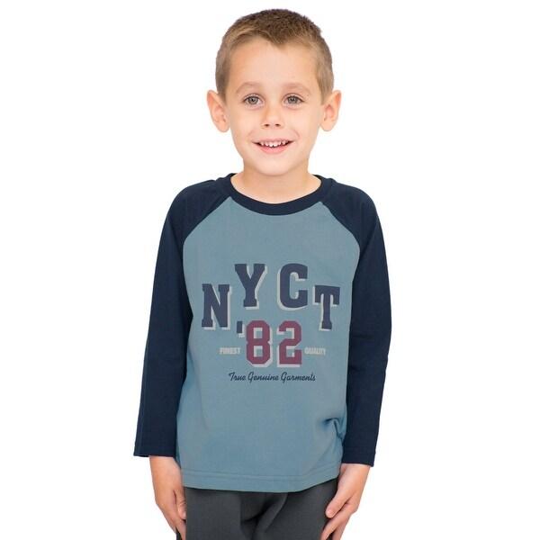 Pulla Bulla Toddler Boy Long Sleeve Raglan Shirt Graphic Tee