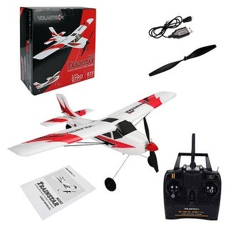 Costway Volantex V761-1 Mini Trainstar 6-Axis 2.4G RC Airplane RTF Drone w/Transmitter