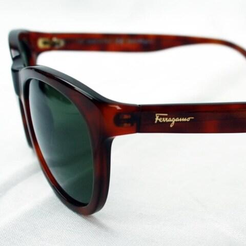Ferragamo Light Havana Men's Sunglasses