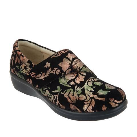 Alegria Womens Lauryn Leather Slip-On Shoes 7W (EU 37W) Regal Cooper A309638