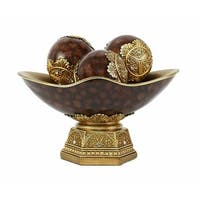 DLusso Designs JT06 Paoletta Collection Bowl with 3 Orbs Set - 4 Piece