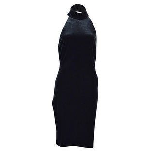 Lauren Ralph Lauren Women's Velvet Mockneck Halter Dress - Black