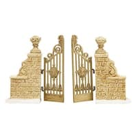 "Department 56 Snow Village ""Tudor Gardens Gate"" Porcelain Accessory #4038852 - WHITE"