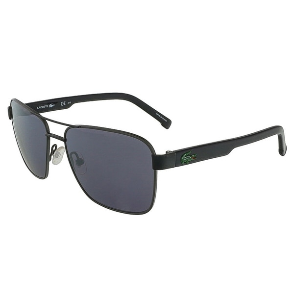Lacoste L3105S 033 Gunmetal Black Aviator Sunglasses - 52-15-125