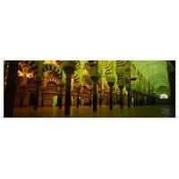 Poster Print entitled Interiors of a cathedral, La Mezquita Cathedral, Cordoba, Cordoba Province, Spain - multi-color