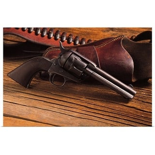 """""""Pistol with holster and belt with bullets"""" Poster Print"""