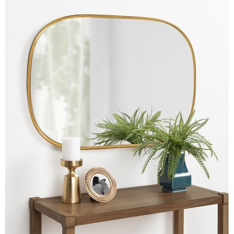 Kate and Laurel Caskill Capsule Framed Oval Wall Mirror