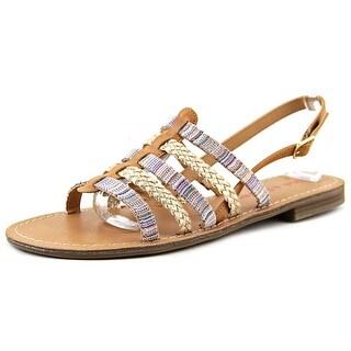 Pink & Pepper Hippie2 Open-Toe Synthetic Slingback Sandal