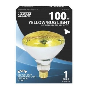 Feit Electric 100PAR/BUG/1 Outdoor Yellow Bug Floodlight, 100W