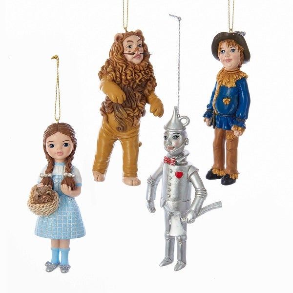 "Wizard of Oz Ornament Set, 4 Pack, 4.5""-5"""