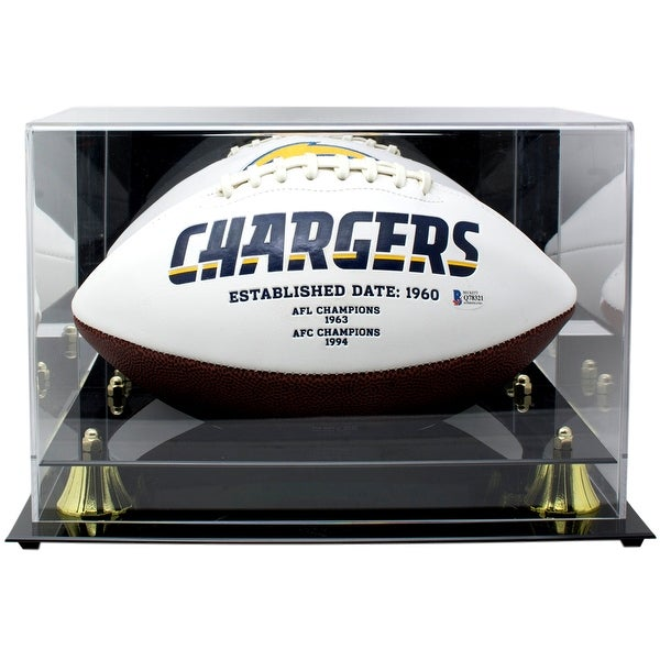 Keenan Allen Signed Los Angeles Chargers Logo Football BAS