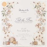 """Craft Consortium Double-Sided Paper Pad 12""""X12"""" 40/Pkg-Tell The Bees"""