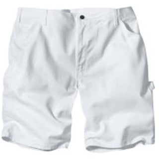 "Dickies DX400WH 36 Men's Painter's Shorts, 36"", White"