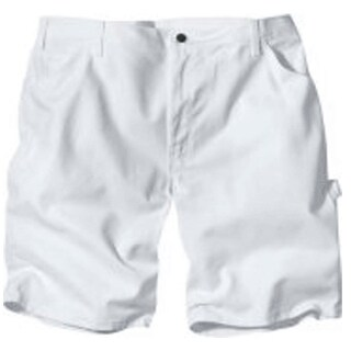 "Dickies DX400WH Men's Painter's Shorts, 40"", White"
