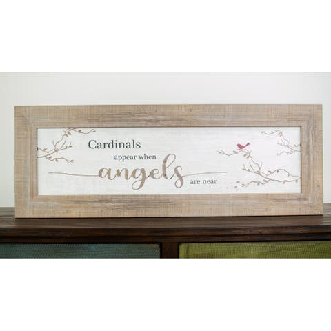 Cardinal Appears When Angels Are Near Framed Art Sympathy Funeral Decor Art
