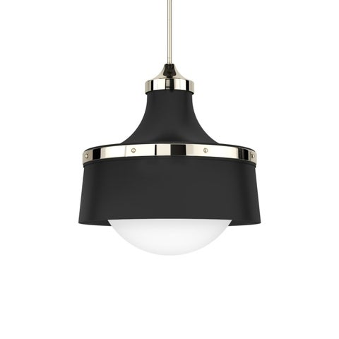 """Park Harbor PHPL5001L 18"""" Wide Single Light Foyer Pendant with Industrial Style Shade"""