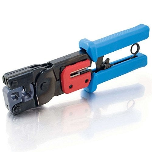 C2g 19579 Rj11-Rj45 Crimping Tool With Cable Stripper Black-Blue