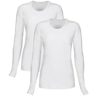 T Flex Womens Long Sleeve T-Shirt 2 Pack, Underscrub Tee Layering Shirt